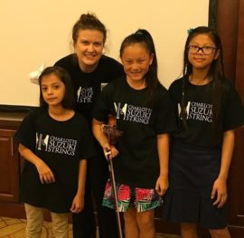 Charlotte Suzuki Strings violin students